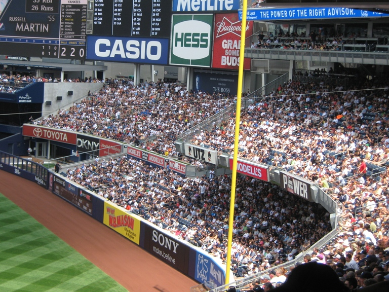 new yankee stadium right field seats