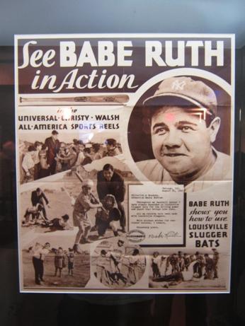 visiting yankee stadium ruth poster