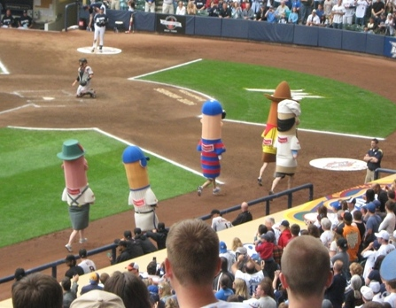 miller park tips sausage race