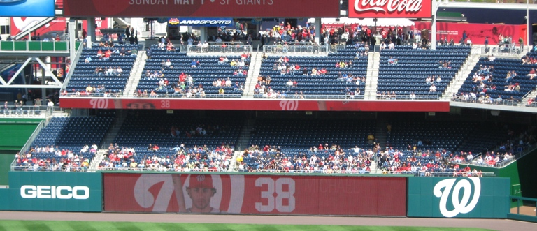 nationals park seating bullpen seats
