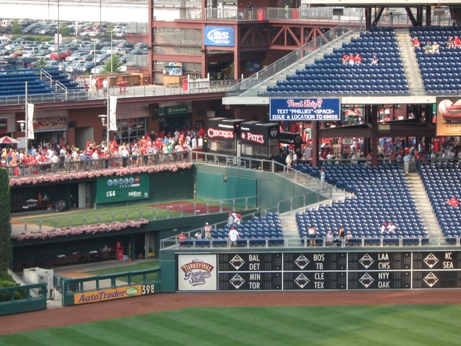 citizens bank park seating bullpens