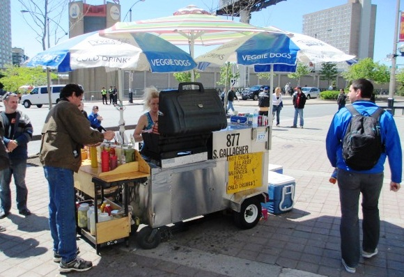 visiting rogers centre street cart yves