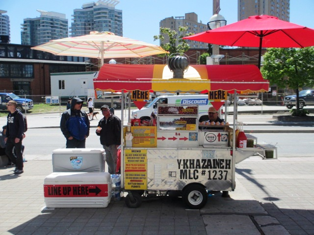 food at rogers centre street meat cart 1