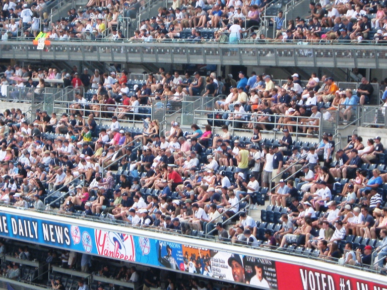 baseball seating yankee stadium terrace