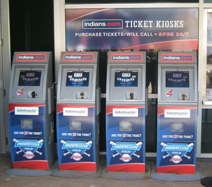 Visiting progressive field ticket kiosks
