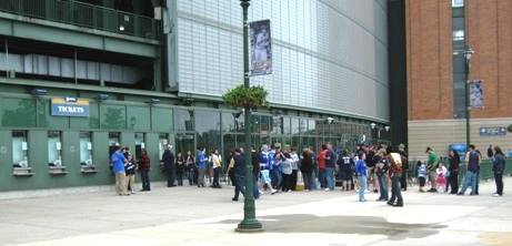 best baseball fans day of game line