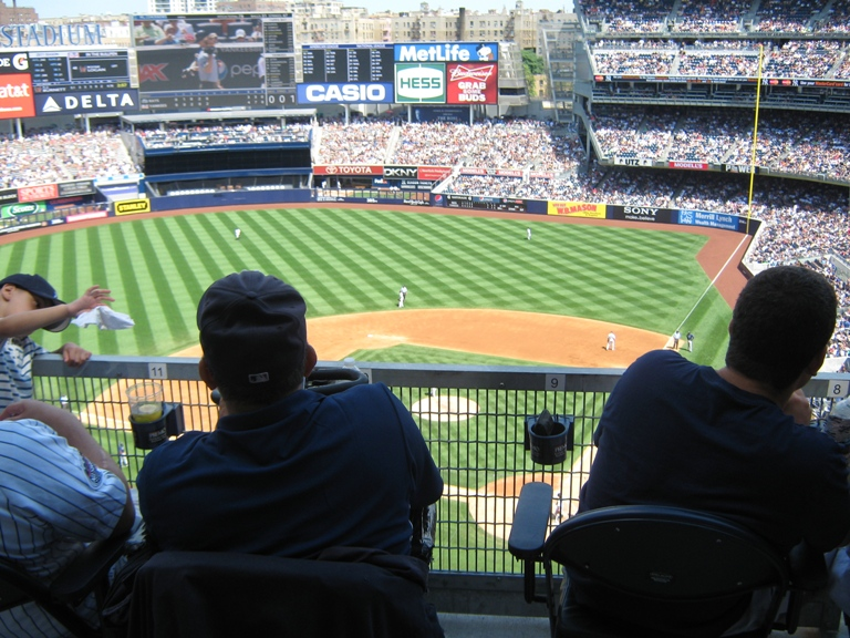 Yankee Stadium Seating Standing Room Terrace