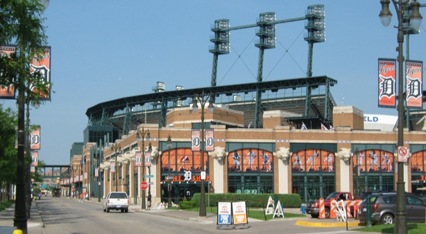 baseball parking comerica