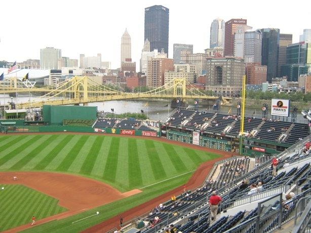 visiting pnc park view from infield
