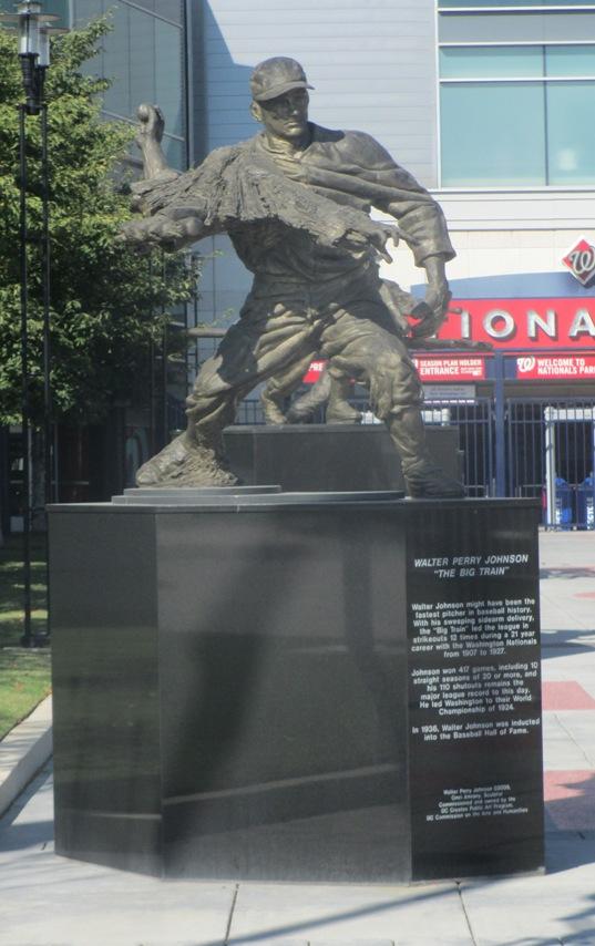 nationals park tips walter johnson statue