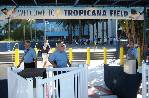 props for tropicana field welcome