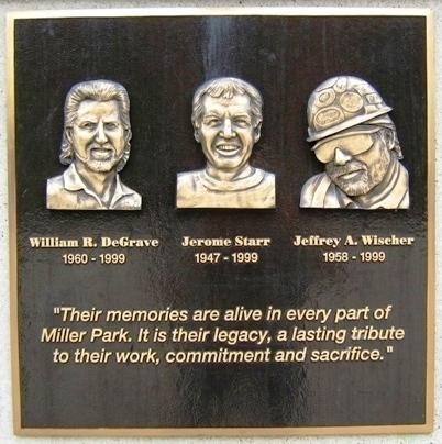 Miller park photo-ops workers dedication