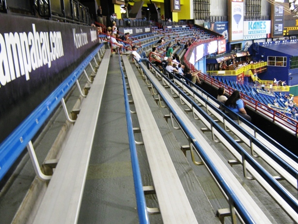 visiting tropicana field tbt benches