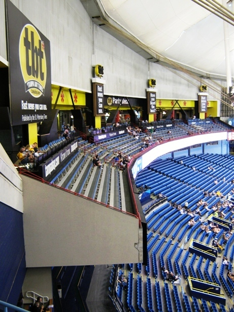 tropicana field party deck section