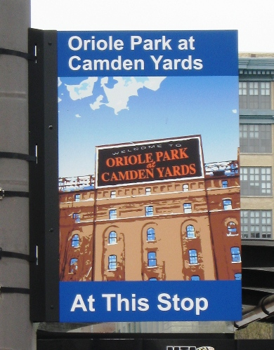 best way to get to camden yards light rail stop