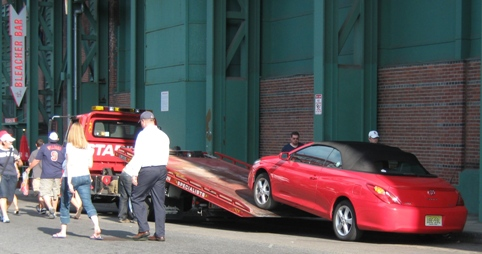 baseball parking towing fenway