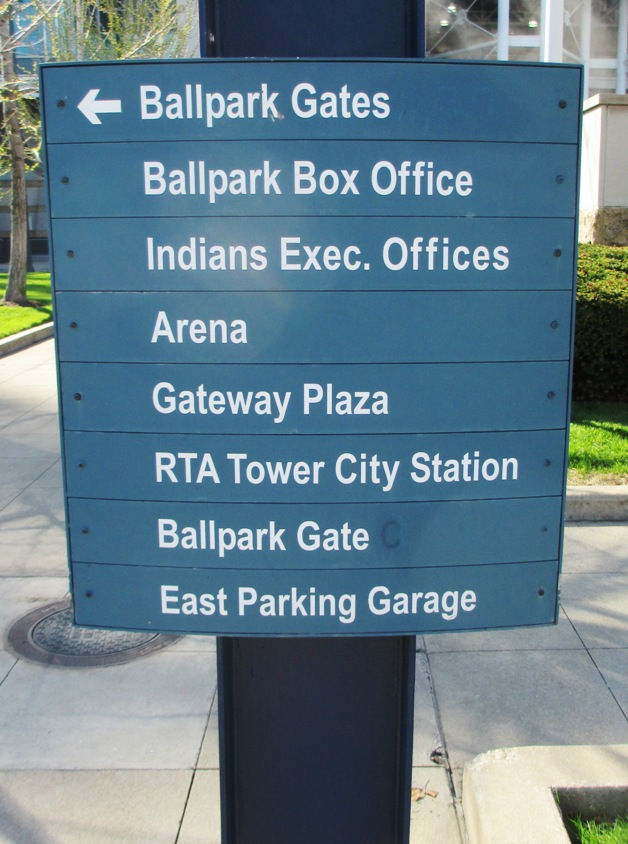 progressive field parking gateway east garage