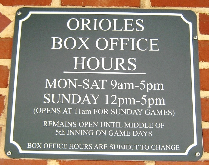 orioles box office