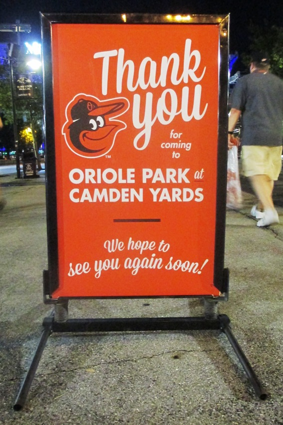 camden yards with kids thank you
