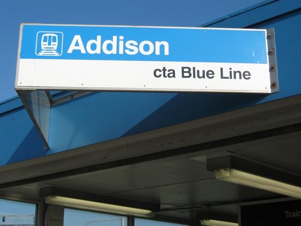 best way to get to Wrigley field blue line