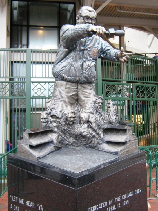 wrigley field bleachers harry caray statue