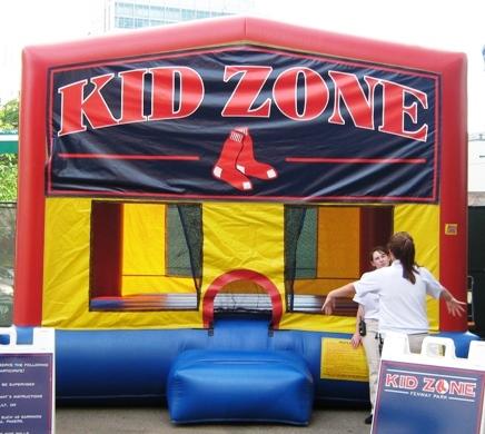 fenway park with kids kids zone