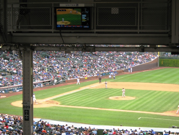 avoid obstructed views at wrigley field overhang tv