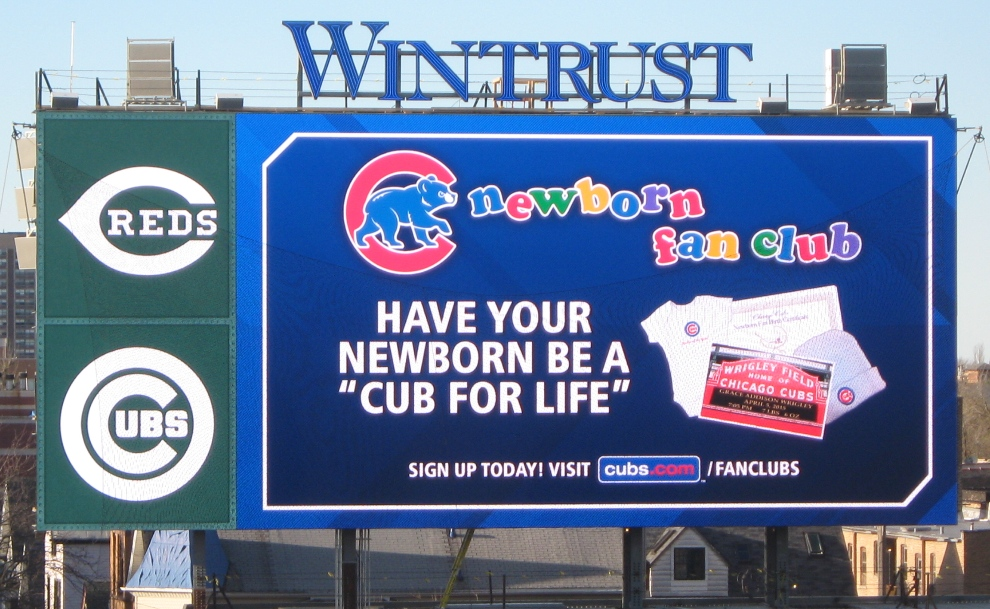 wrigley field with kids fan club
