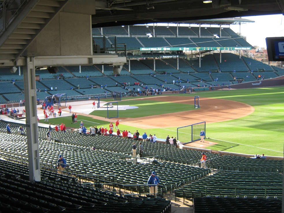 wrigley field with kids terrace seats