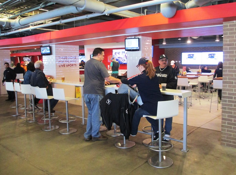 guaranteed rate field restaurants xfinity zone