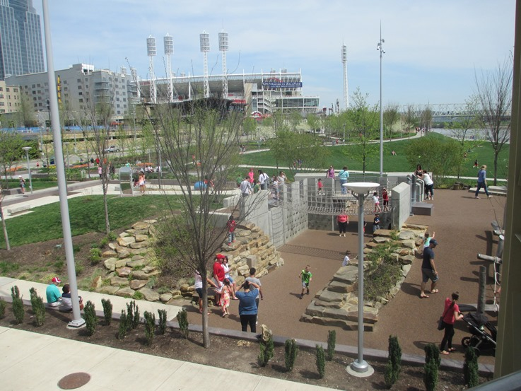 great american ball park with kids playground