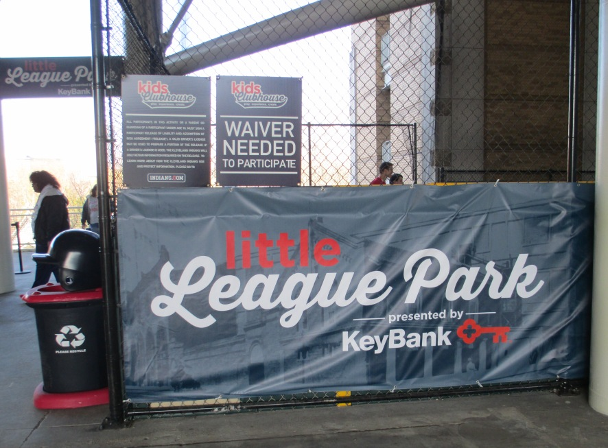 Progressive field with kids little league