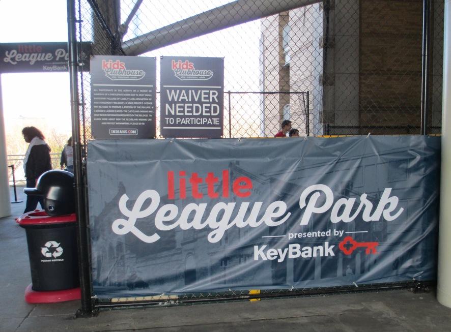 Progressive field with kids little league