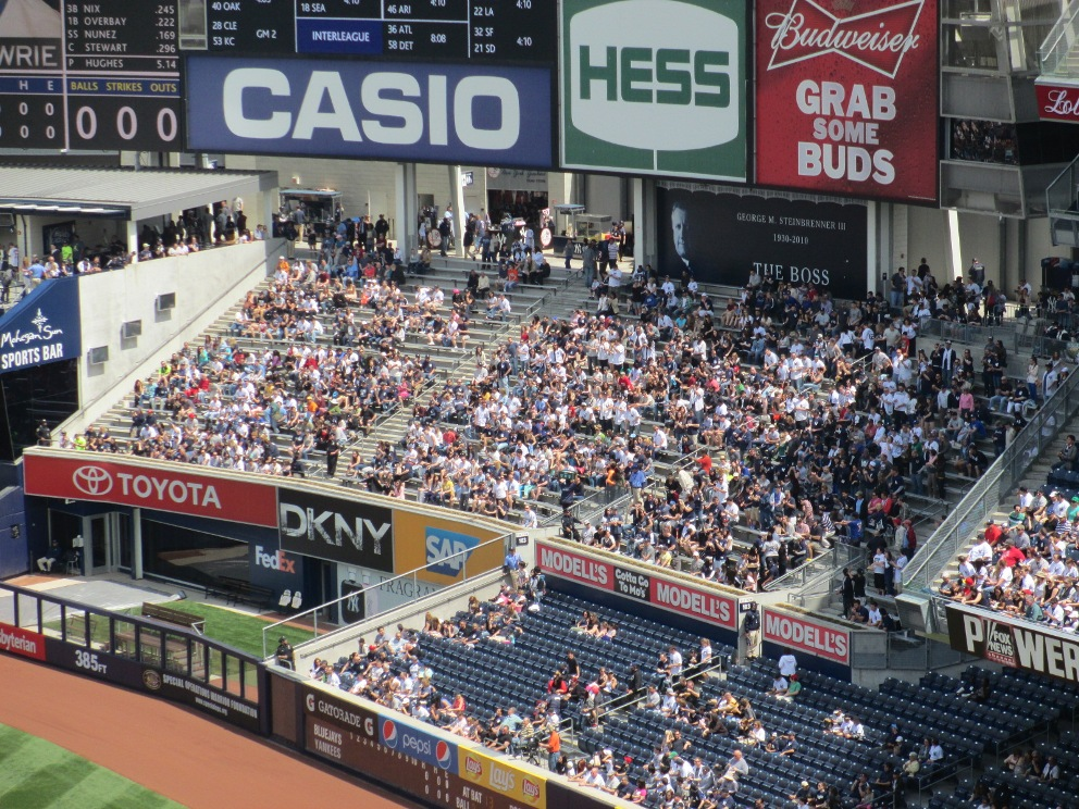 cheap seats at yankee stadium bleachers