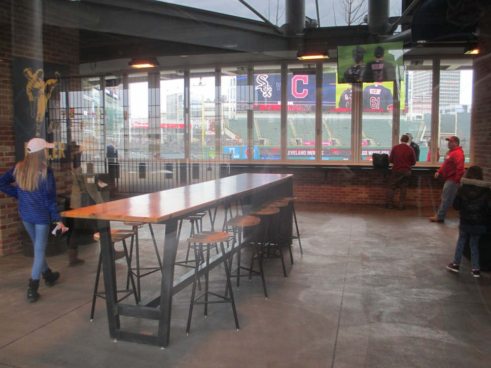 progressive field seating home plate club