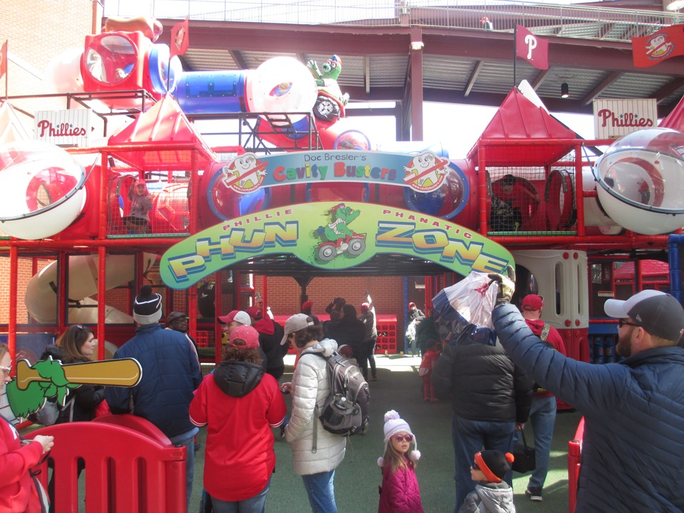 citizens bank park with kids phun zone