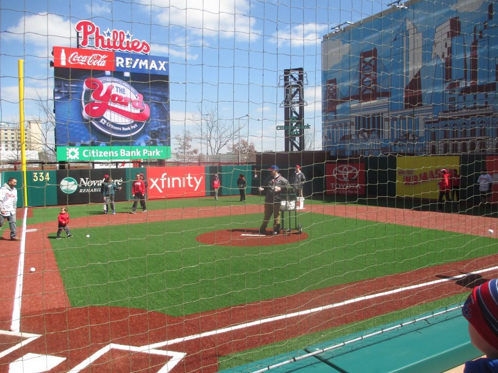 citizens bank park with kids the yard