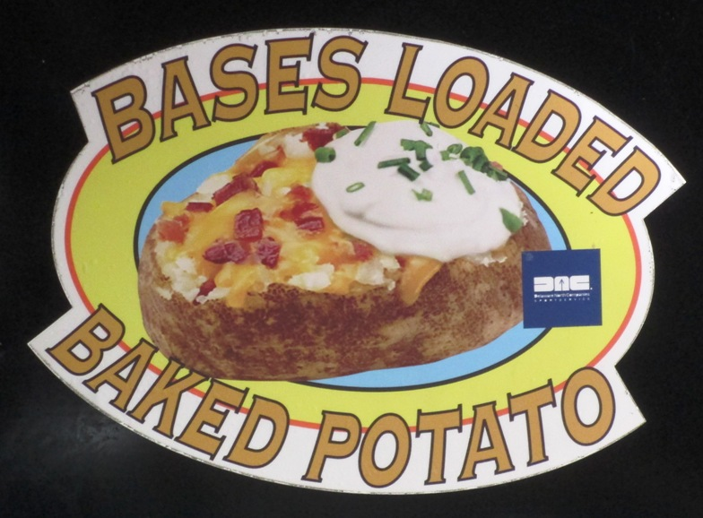 guaranteed rate field food options baked potato