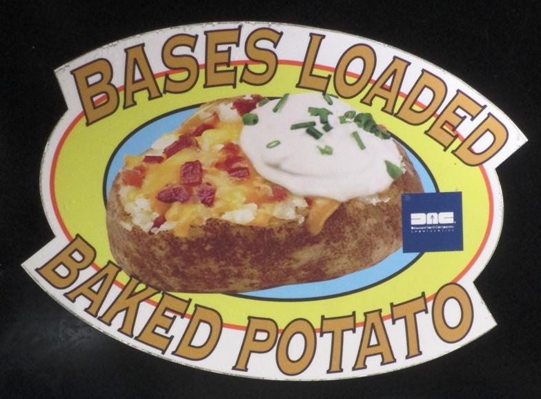 guaranteed rate field food options baked potato
