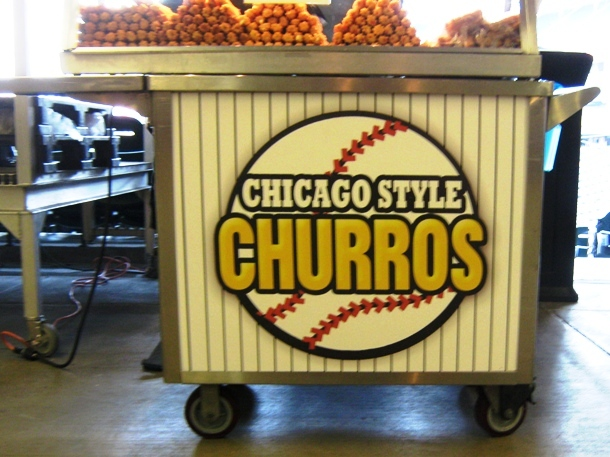 guaranteed rate field food options churros