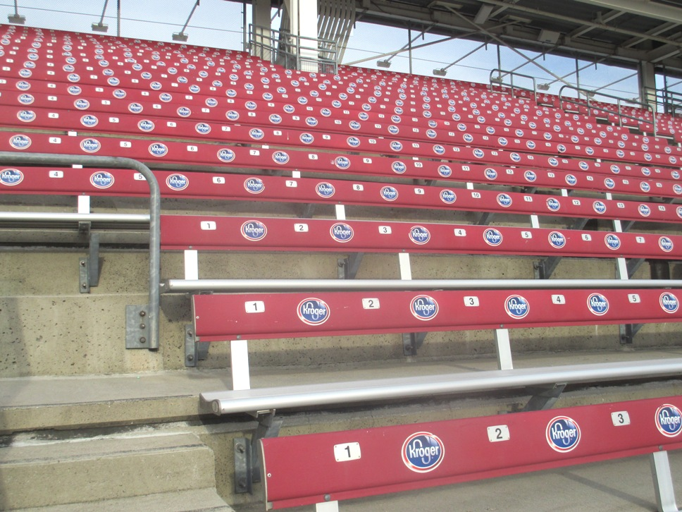 cheap seats at great american ball park bleachers