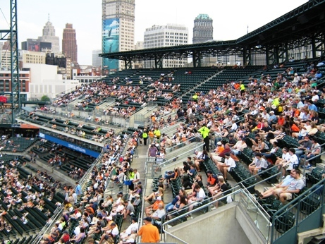 cheap seats at comerica park mezzanine