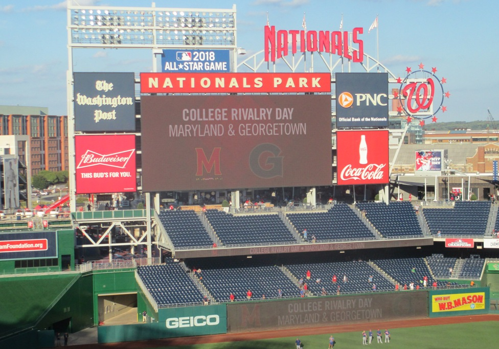 cheap seats at nationals park scoreboard pavilion