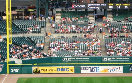cheap seats at comerica park pavilion
