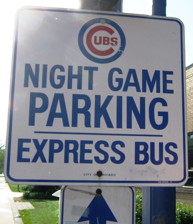wrigley field parking free bus