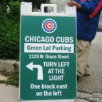 wrigley field parking green lot