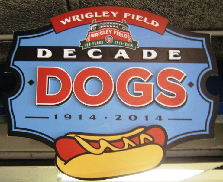 wrigley field food decade dogs
