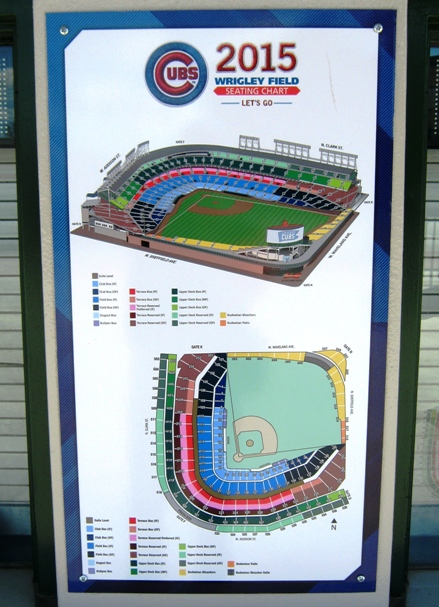 wrigley field seating map