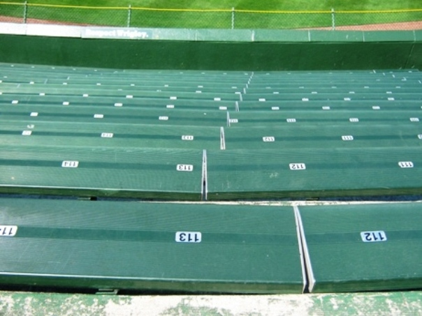 wrigley bleachers backless