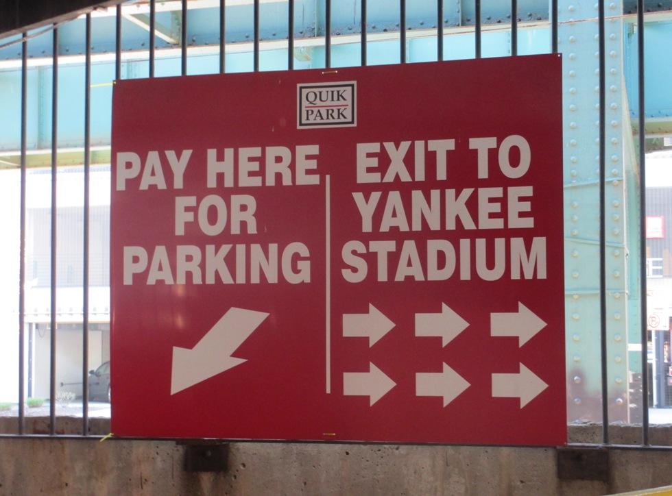 yankee stadium parking river avenue garage